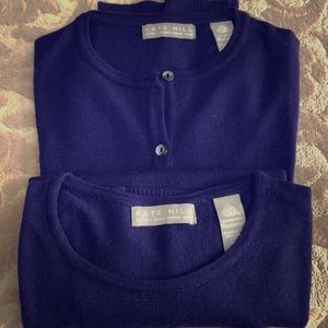 Winter clearance! Gorgeous wool purple sweater set